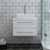 """24"""" White Vanity w/ Top & Sink Front View"""