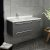 Gray Left Cabinet w/ Top & Sink Angle View