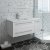 White Left Cabinet w/ Top & Sink Angle View