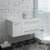 White Right Cabinet w/ Top & Sink Angle View