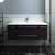 """42"""" Espresso Cabinet w/ Top & Sink Front View"""
