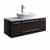 "42"" Espresso Base Cabinet w/ Top & Sink White Background"