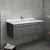 """42"""" Gray Cabinet w/ Top & Sink"""