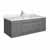 """42"""" Gray Cabinet w/ Top & Sink Gray Background"""