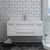 """42"""" White Cabinet w/ Top & Sink Front View"""