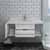 """42"""" White Cabinet w/ Top & Sink Opened View"""