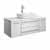 "42"" White Base Cabinet w/ Top & Sink White Background"