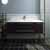 """48"""" Espresso Cabinet w/ Top & Sink Front View"""