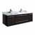 "48"" Espresso Cabinet w/ Top & Sinks White Background"