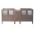 "Fresca Torino 72"" Gray Oak Modern Vanity Base Cabinets, 71-1/2"" W x 17-3/4"" D x 33-3/4"" H"