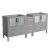 "72"" Gray Vanity Cabinets"