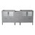 """72"""" Gray Front Product View"""