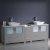 "84"" Gray Double Sink Vanity Cabinets w/ Tops & Vessel Sinks"