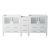 """Fresca Torino 83"""" White Modern Vanity Base Cabinet, 83"""" W x 17-3/4"""" D x 33-3/4"""" H"""