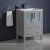 """24"""" Gray Vanity Cabinet w/ Integrated Sink"""