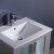 "24"" Gray Undermounder Sink Close Up"