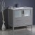 """36"""" Gray Vanity Cabinet w/ Integrated Sink"""