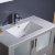 "36"" Gray Undermounder Sink Close Up"
