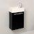 Black Vanity Cabinet w/ Sink Top