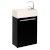 Black Vanity Cabinet w/ Sink Top Product View