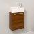 Teak Vanity Cabinet w/ Sink Top