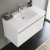 White Vanity Cabinet w/ Sink Top View 1