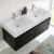 Black Vanity Cabinet w/ Sink Top View 1