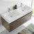 Gray Oak Vanity Cabinet w/ Sink Top View 1