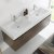 Gray Oak Vanity Cabinet w/ Sink Top View 1