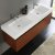Teak Vanity Cabinet w/ Sink Top View 1