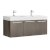 Gray Oak Vanity Cabinet w/ Sink Top Product View
