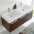 Walnut Vanity Cabinet w/ Sink Top View 2