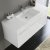 White Vanity Cabinet w/ Sink Top View 2