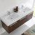 Walnut Vanity Cabinet w/ Sink Top View 3