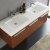 Teak Vanity Cabinet w/ Sink Top View 2