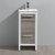 "Fresca Allier Rio 16"" Ash Gray Modern Bathroom Cabinet w/ Sink, Cabinet Base: 16"" W x 16"" D x 33-1/2"" H, Sink: 12"" W x 10.25"" D x 5"" H"