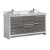"""48"""" Ash Gray Double Sink Base Cabinet"""