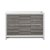 """48"""" Ash Gray Single Sink Front View"""