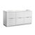 "Fresca Valencia 60"" Glossy White Free Standing Single Sink Modern Bathroom Cabinet , Vanity Base: 60"" W x 19"" D x 30"" H"