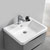 """24"""" Glossy Gray Cabinet with Sink Overhead View"""