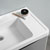 """24"""" Glossy Gray Cabinet with Sink Close Up"""