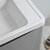 """24"""" Glossy Gray Cabinet with Sink Edge Close Up"""