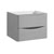 """24"""" Glossy Gray Cabinet Only Side View"""
