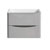 """24"""" Glossy Gray Cabinet Only Front View"""