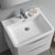 """24"""" Glossy White Cabinet with Sink Overhead View"""