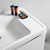 """24"""" Glossy White Cabinet with Sink Close Up"""