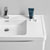 """24"""" Glossy White Cabinet with Sink Edge Close Up"""