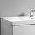 """24"""" Glossy White Cabinet with Sink Top"""