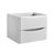 """24"""" Glossy White Cabinet Only Side View"""