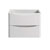 """24"""" Glossy White Cabinet Only Front View"""